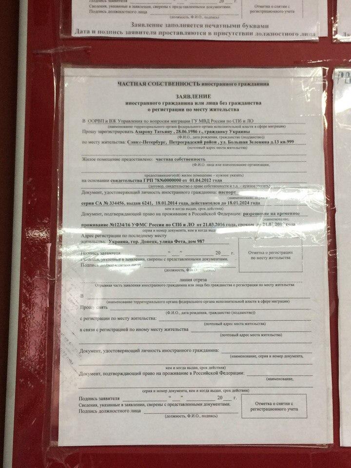 Регистрация в выборге иностранных граждан ул травяная медицинская книжка для работы учителем